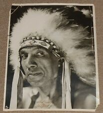 OLD WILD WEST PHOTO of NATIVE AMERICAN CHEROKEE INDIAN CHIEF HAILSTORM VAN NOY
