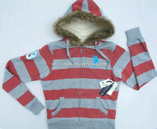 75% OFF! AUTH US POLO ASSN JUNIOR'S FAUX FUR TRIM HOODIE LARGE BNWT US$ 68