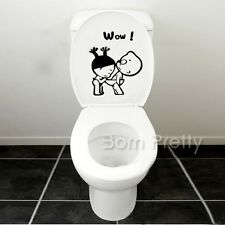 1PC Funny Cartoon Seat Toilet Removable Stickers DIY Bathroom Wall Decal