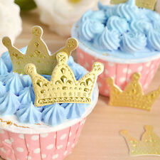 50XGold Crown Cupcake Toppers,Wedding Picks,Party Picks,Food Pick Cake Decor WB