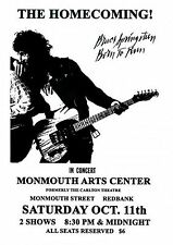 Bruce Springsteen Concert Poster New Jersey 1975 Reproduction