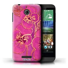 STUFF4 Phone Case for HTC Desire Smartphone/Floral Silk Effect/Protective Cover