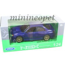 WELLY 22487 SUBARU IMPREZA WRX STI 1/24 DIECAST MODEL CAR BLUE