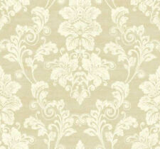 York Wallcoveirngs Traditional Cream Tan Victorian Vintage Damask Wallpaper Diy