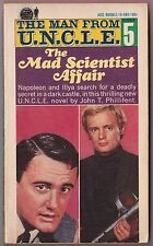 Man From UNCLE #5 Mad Scientist Affair - John T Phillifent Ace Books 1966 1st Pr