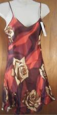 Red Brown & Cream Junior Size Satin Nightgown Size Large New With Tag