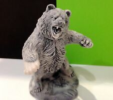 Bear GRIZZLY figurine marble chips Bear hunter realistic Souvenirs from Russia