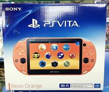 SONY PS Vita PlayStation Vita  Latest Model PCH-2007 Neon Orange