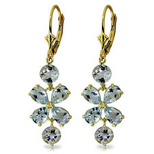 5.32 Carat 14K Solid Gold Chandelier Earrings Aquamarine