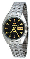 Orient FEM0401NB Men's 3 Star Stainless Steel Black Dial Automatic Watch