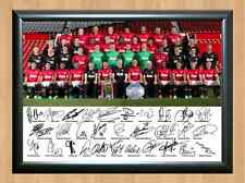 Manchester United Squad Team 2013 Poster Man U Signed Autographed Photo Print A4
