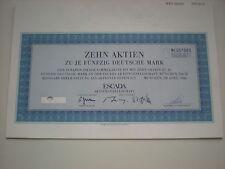 Deutschland - ESCADA AG   10 x  50 DM  1986  1/363