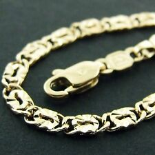 AN600 GENUINE REAL 18K YELLOW G/F GOLD SOLID LADIES RETRO LINK NECKLACE CHAIN
