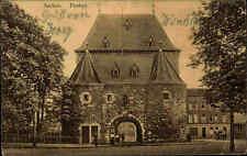 Feldpostkarte 1. Weltkrieg AACHEN Strassen Partie am Ponttor Dt. Feldpost 1914