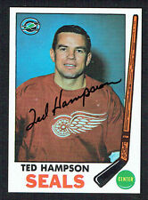 Ted Hampson #86 signed autograph auto 1969 Topps Hockey Trading Card