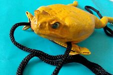 Philippines tanned leather cane toad frog tote lucky weird Rhinella marina pest