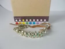 Lot of 12 Lee Angel Color Therapy Mint Beige Suede l Friendship Bracelet NWOT 55