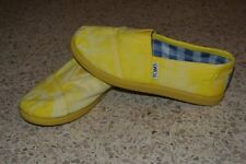 Toms Classics Yellow Palmetto Canvas Slip-On Shoes girls 13