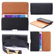 * FOR Karbonn Platinum P9 * PU Leather Magnetic Flip Belt Hip Pouch Case
