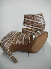 JESSICA SIMPSON Elsbeth Sandals Natural Color Snake Pattern Women's Size 8.5M