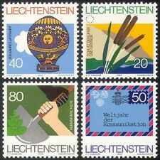 Liechtenstein 1983 Balloon/UPU/ITU-UIT/Conservation/Aviation/Plants 4v (n41770)