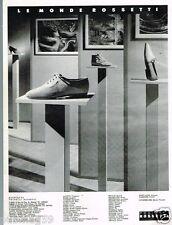 Publicité advertising 1990 Les Chaussures Fratelli Rossetti