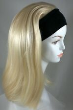 Classic Elastic Headband Hairpiece w/Long Straight Hair 3/4 Fall with Black Band