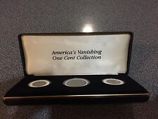 Rare! American's  Vanishing One Cent Collection! 3 Coins Struck By US Mint.