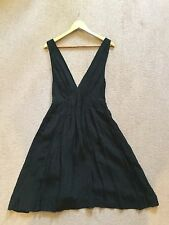 Kate Moss Top Shop Brand New Black Viscose Deep Plunge Dress Size 12