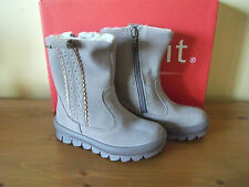 Girls SUPERFIT 210 GORETEX Beige SUEDE Zip Snow BOOT Size UK 7.5 EUR 25 NEW!