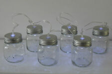 6 LED Novelty Clear Glass Mason Jars Battery Garland String Fairy Party Lights