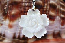 P0115 Muschel Perlmutt Perlen Schmuck Anhänger Collier Schnur Halskette Kette