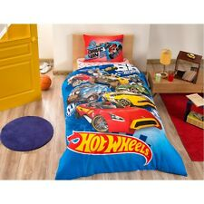 Hot Wheels Cars 100% Cotton Bedding Set Quilt/Duvet Cover Set Single Twin 3pcs