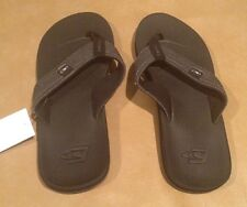 NWT ONeill Nacho Libre Black with Gray Silver Size 8 Sandal Thongs Flip Flop Men