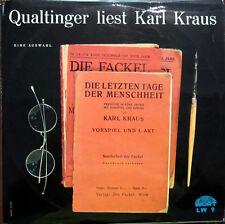 LP / QUALTINGER LIEST KARL KRAUS / AUSTRIA / RARITÄT /