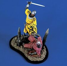 Verlinden 120mm 1/16 Medieval Knights at War Vignette with Base (2 Figures) 1178