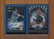 MIKE MINOR-2011Topps Chrome Rookie Auto & 2011 Finest RC