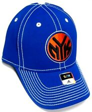 New York Knicks NBA Adidas Blue Hat Cap Stitched NYK Logo Flex Fit Fitted S/M