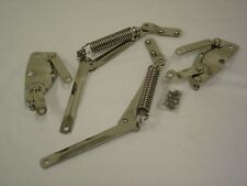 1939 1940 Ford Standard & Deluxe Hood Hinge Bracket + Arm and Spring - Stainless