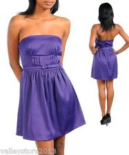 X1 Sexy Purple Little Mini Formal Ball Prom Party Rave Cocktail Club Dress S M L