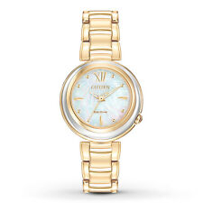 Citizen Eco-Drive Women's EM0334-54D Sunrise Collection Gold Tone Watch
