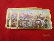 5 Zigarrenkisten Etiketten - Goldrand + Schiffe - wohl 1920er/30er Jahre   /S52