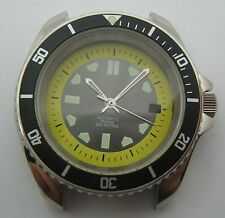SUBMARINER CASE DIAL HANDS FOR VALJOUX ETA 2824-2 WATER RESIST 20ATM  SWISS MADE