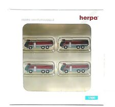 Herpa Wings Airport accessories: fire engine set Content: 4 pcs 1:500 (520867)