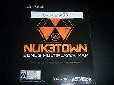 CALL OF DUTY III 3 PS4 PLAYSTATION 4 DLC CODE - NUKETOWN Add-on No Game Included