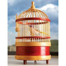 Kids Wind Up Clockwork Singing Bird Birthday Party Bag Fillers Toy Box Cage
