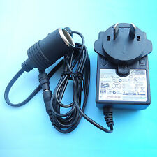 100V-240V Mains to 12V DC Cigarette Lighter Voltage Converter Power Adapter 2A
