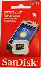 Original Sandisk 16GB Micro SD HC Memory Card For All Type Mob.Phone Cameras