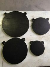 """AR500 Steel Gong Shooting Targets 4 Pieces Set 1/2"""" X 6"""", 8"""", 10"""", 12"""""""