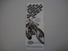 advertising Pubblicità 1980 MOTO SWM CROSS